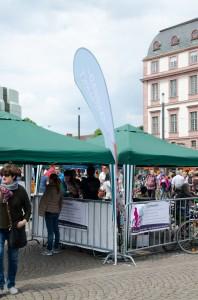 Eingang zum Flohmarkt 2014